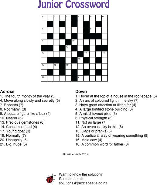 Puzzles and crossword samples, New Zealand – PuzzleBeetle